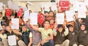 Öğrencilerden, asker ve polislere mektup