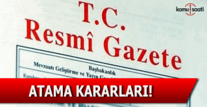 8 Nisan 2016 tarihli Resmi Gazete'de yayımlanan atamalar