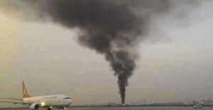 Atatürk Havalimanı'nda yangın paniği!