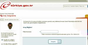 e-Devlet'ten plaka numarası ile 'araç sorgulama' yapılamayacak