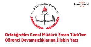 Ercan Türk'ten öğrenci devamsızlığına ilişkin uyarı