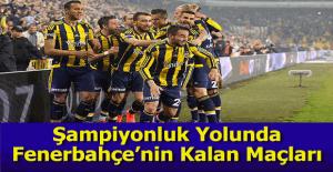 Fenerbahçe'nin ligde kalan maçları