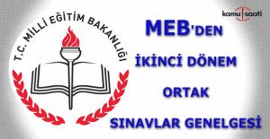 MEB'den ikinci dönem ortak sınavlar genelgesi