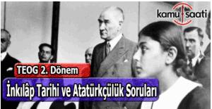 Teog İnkılap Tarihi ve Atatürkçülük sınavı soruları 28 Nisan Çarşamba