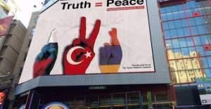 Times meydanında Türk afişi krize neden oldu!
