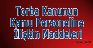 Torba Kanunun kamu personeline ilişkin maddeleri