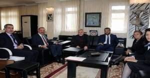 Türk Dünyası Parlementler Vakfı üyelerinden Mamak Belediye Başkanı Mesut Akgül'e ziyaret