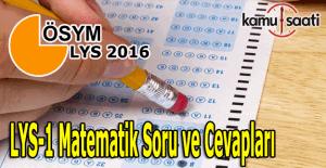 LYS Matematik Geometri soruları ve cevapları LYS 1 Mat 2