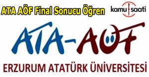 ATA AÖF final sınavı sonuçları açıklandı! 11-12 Haziran 2016 Ata Aöf sonuç öğren