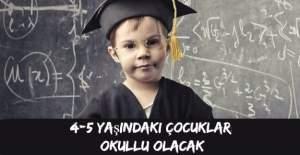 MEB, 4-5 yaşındaki çocukları eğitime başlatacak