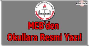 MEB'den okullara rehberlik hizmetleri yıl sonu çalışma raporlarına ilişkin resmi yazı!