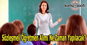 Sözleşmeli öğretmen alımı ne zaman yapılacak? Bakan İsmet Yılmaz açıkladı
