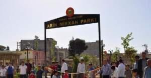 Suruç'taki parka Arin Mirkan isimli teröristin adı verildi