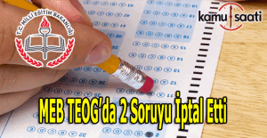 Teog'da iki soru iptal edildi, 2016 TEOG iptal edilen sorular