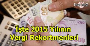 2015 yılının vergi rekortmeni kim oldu?