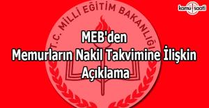 MEB'den memurların nakil takvimine ilişkin açıklama
