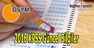 2016 KPSS Güncel bilgiler çıkabilecek sorular - 2016 KPSS soru tahmini