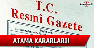 26 Ağustos 2016 tarihli atama kararları! - Resmi Gazete atama kararları!