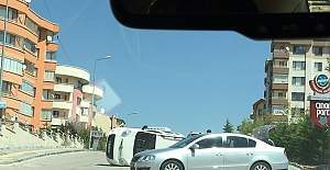 Ankara Çukurambar'da trafik kazası!