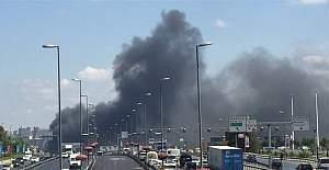 İstanbul Merter'de korkutan yangın