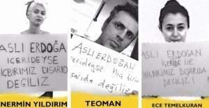Ünlülerden, gazeteci Aslı Erdoğan'a destek