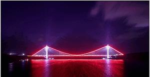 Yavuz Sultan Selim Köprüsü'nde görsel şölen