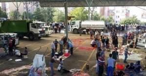 Keçiören Aktepe Pazar yerinde kurban telaşı