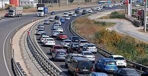 Tatil dönüşü trafik sorunu