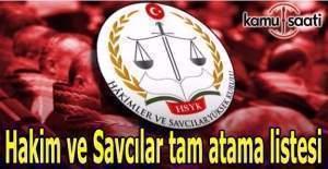 1069 hakim ve savcı adayının görev yeri belli oldu- Hakim ve Savcılar tam atama listesi