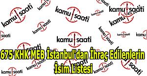 İstanbul'da MEB'den ihraç edilen öğretmenlerin isim listesi