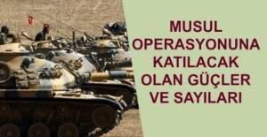 Musul operasyonuna katılan güçler ve asker sayıları