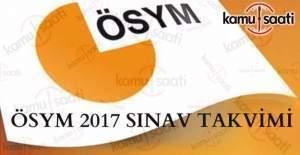 ÖSYM, 2017 sınav takvimini açıkladı