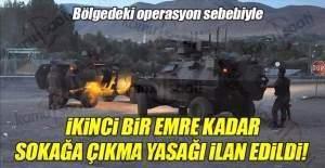 Tunceli'de sokağa çıkma yasağı