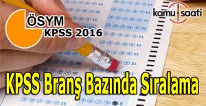 2016 KPSS Önlisans branş sıralaması sorgula öğren