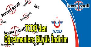 TCDD'den öğretmenlere büyük YHT indirimi