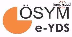 E-YDS giriş belgeleri yayımlandı
