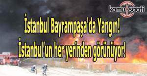 İstanbul Bayrampaşa'da yangın!