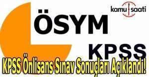 2016 KPSS Önlisans sonuçları açıklandı!