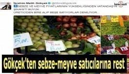 Gökçek'ten sebze-meyve satıcılarına...