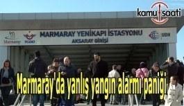 Marmaray'da yanlış yangın alarmı paniğe neden oldu