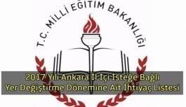 2017 Yılı Ankara İl İçi İsteğe Bağlı...