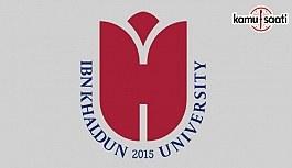 İbn Haldun Üniversitesi Lisans Eğitim-Öğretim...