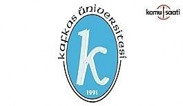 Kafkas Üniversitesi Türkçe Öğretimi...