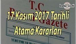 17 Kasım 2017 Tarihli Atama Kararı - Resmi...