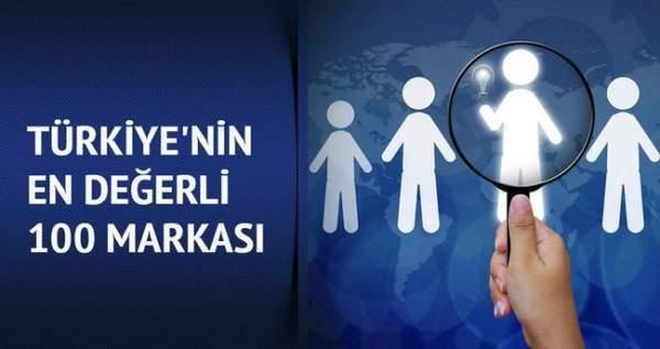 Türkiye'nin en değerli 100 markası belli oldu