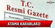 25 Ekim 2016 tarihli Atama Kararları