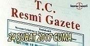24 Şubat 2017 tarihli ve 29989 sayılı Resmi Gazete