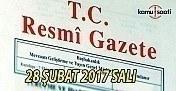 28 Şubat 2017 tarihli ve 29993 sayılı Resmi Gazete