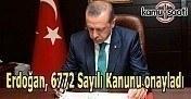 Erdoğan, 6772 Sayılı Kanunu onayladı