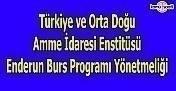 Türkiye ve Orta Doğu Amme İdaresi Enstitüsü Enderun Burs Programı Yönetmeliği
